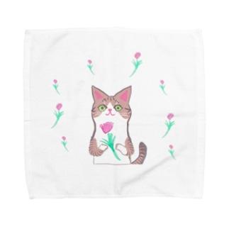 綺麗なおめめ【お花ver.】 Towel handkerchiefs