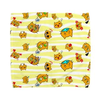 ネコ百面相 Towel handkerchiefs