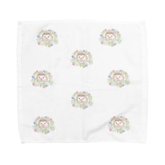 春の花飾り Towel handkerchiefs