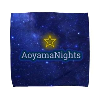 青山Nights®ビジネスロゴ Towel handkerchiefs