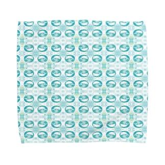 アクアブルー(シロイルカ) Towel Handkerchief