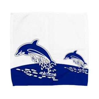 親子のドルフィンジャンプ! Towel handkerchiefs