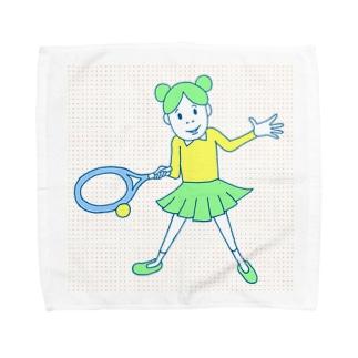 庭球ピコちゃんカラー Towel handkerchiefs