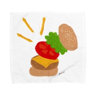 楽しくなっちゃうハンバーガー Towel handkerchiefs