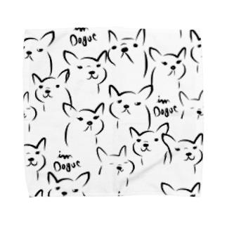 i'm dogue friends Towel handkerchiefs