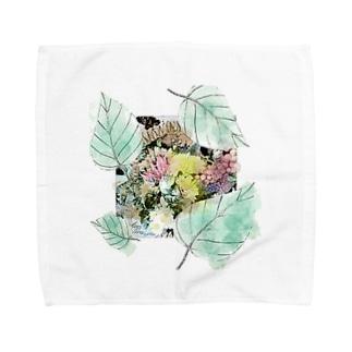 やわらかなリーフ Towel handkerchiefs