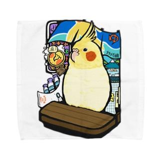 オカメインコの銭湯 Towel handkerchiefs