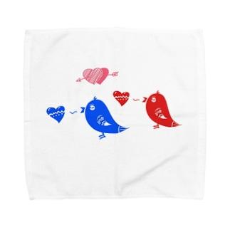 ことりのさえずり Towel handkerchiefs