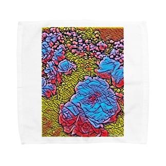 青バラ Towel handkerchiefs