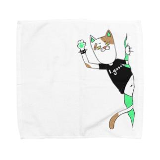 パンクキャット【アイガス】 Towel handkerchiefs