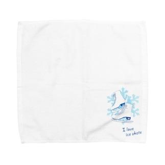 I  love  ice skate...♡ Towel handkerchiefs