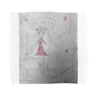 先生へ 。 Towel handkerchiefs