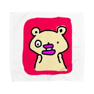 たらこくちびるのくまさんびっくりする Towel handkerchiefs