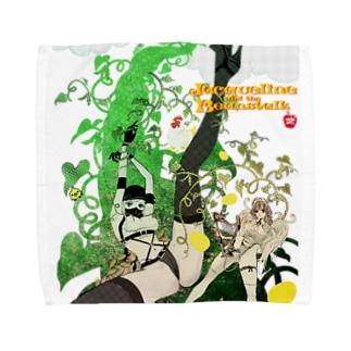 ジャクリーヌちゃんと豆蔓 タオルハンカチ