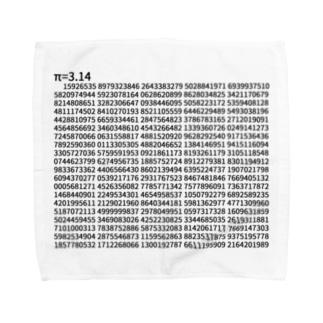 円周率π=3.14 (1000桁Version) Towel handkerchiefs