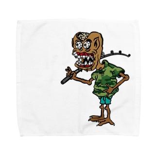 ボウズ男爵 Towel handkerchiefs