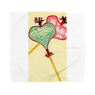 唐招提寺・うちわまき団扇 Towel handkerchiefs