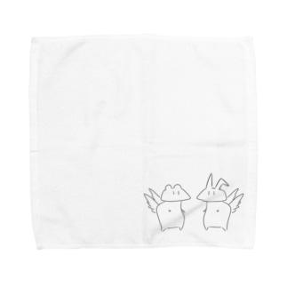 くまたろーVSうさ子 Towel handkerchiefs