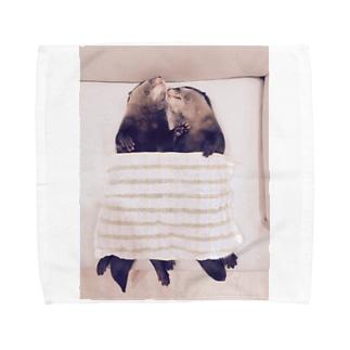 癒しかわうそ Towel handkerchiefs
