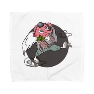考える天狗 Towel handkerchiefs