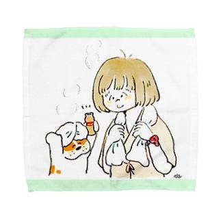 健康ランドタオル Towel handkerchiefs