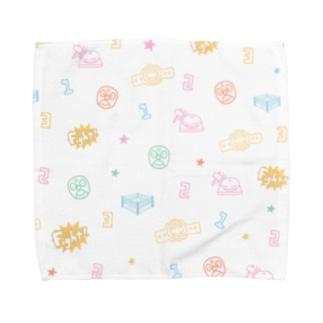 プロレスパターン(カラフル) Towel handkerchiefs