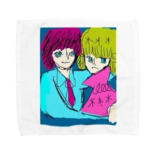 リイリとカロロファッション画カロロの壁ドン Towel handkerchiefs