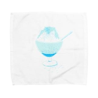 かき氷ブルー・ハワイ味 Towel handkerchiefs