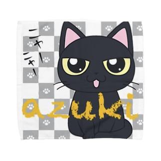 黒猫あずきたん Towel handkerchiefs