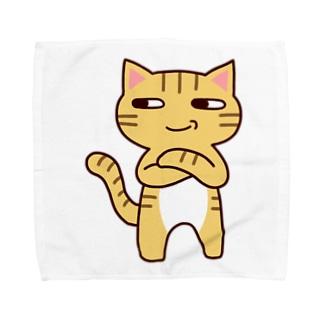 にやり猫 Towel handkerchiefs