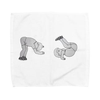 前転しちゃうゼェ! Towel Handkerchief