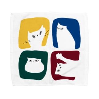 ネコタイルハンカチ Towel handkerchiefs