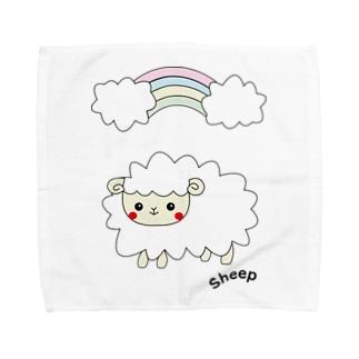 もふもふ♡ひつじさんNo.1 Towel handkerchiefs