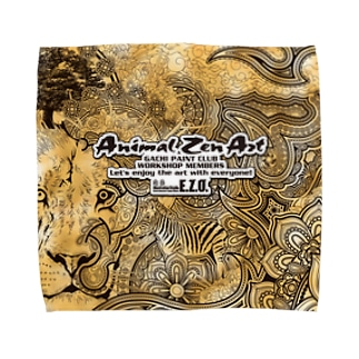 "ANIMAL ZEN ART ""E.ZO.Design"" Towel handkerchiefs"