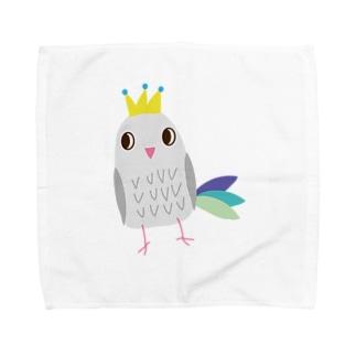 ゆめかわいいカラフルとり Towel handkerchiefs