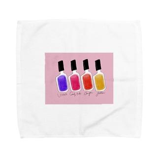 pink manicure Towel handkerchiefs
