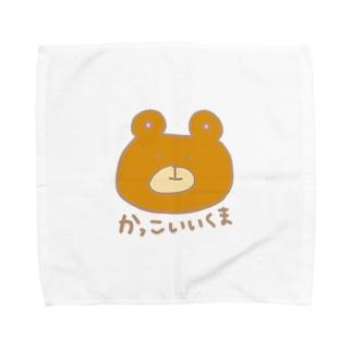 かっこいいくま茶 Towel handkerchiefs