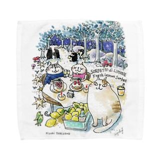 CatChips森のカフェ Towel handkerchiefs