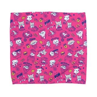 鼻ぺちゃわんさか PINK Towel handkerchiefs