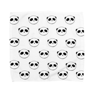 ぱんだどっと混む Towel handkerchiefs