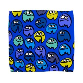 たこさん あお Towel handkerchiefs