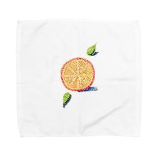オレンジ色の恋 Towel handkerchiefs