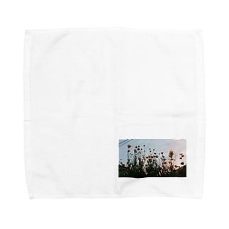 春の夕暮れ時わ Towel handkerchiefs