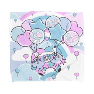 Floating on a Balloon Towel handkerchiefs