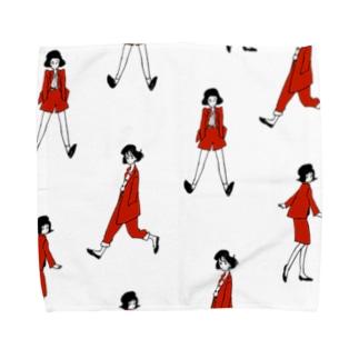 RED SET UP Towel handkerchiefs