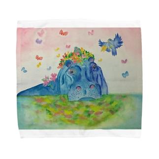 花の帽子 Towel handkerchiefs