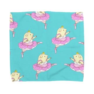 モルモットのバレリーナC Towel handkerchiefs