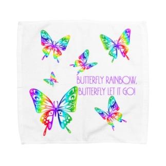BUTTERFLY RAINBOW Towel handkerchiefs