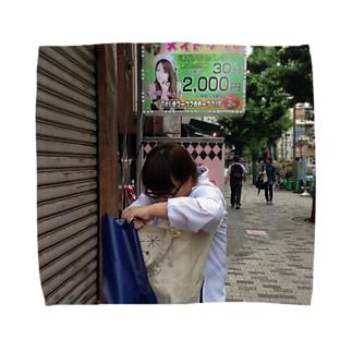 新宿三丁目のももぱいシリーズ Towel handkerchiefs