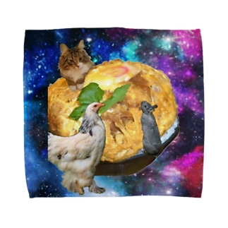 space KATSUDON Towel handkerchiefs